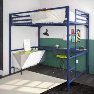 DHP MILES FULL METAL LOFT BED