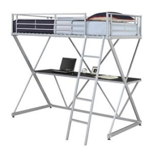 DHP-X LOFT METAL BUNK BED WITH DESK