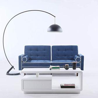 Divano Roma Furniture Mid Century Modern Velvet Futon