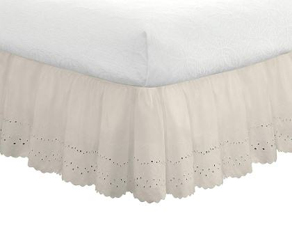 Eyelet Ruffled Bedskirt – Fresh Ideas