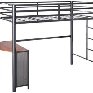 FISHER TWIN METAL WORKSTATION LOFT BED