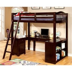 FURNITURE OF AMERICA FRANKLYN TWIN LOFT BED