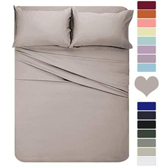HOMEIDEAS 4 Piece 1800 Bed Sheet Set