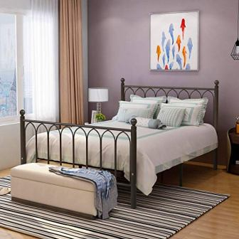 HOMERECOMMEND Metal Bed Frame