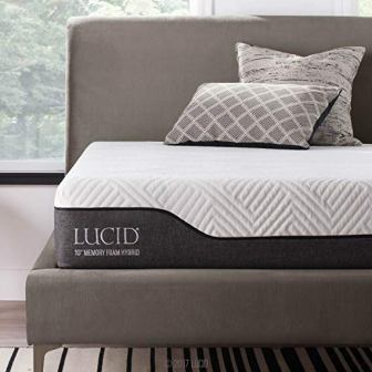 LUCID 10-inch Twin Hybrid Mattress
