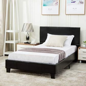 Mecor Faux Leather Bed Frame