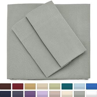 Premium Bamboo Bed Sheets – Twin Size, Grey Sheet Set