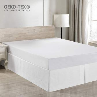 Premium Dust Ruffle with Classic 14 inch Drop Bed – Simple&Opulence