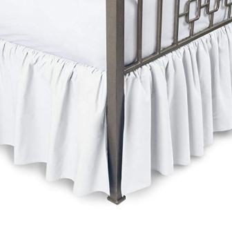 Pure Cotton Dust Ruffle Bed Skirt – Comfort Bedding Collection