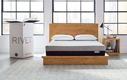 Rivet King Mattress – Celliant Cover, Responsive 3-layer Memory Foam for Support and Better Overnight Recovery