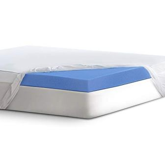 Serta 4″ Lasting Dream Ultra Gel-Infused Memory Foam Mattress Topper, Queen