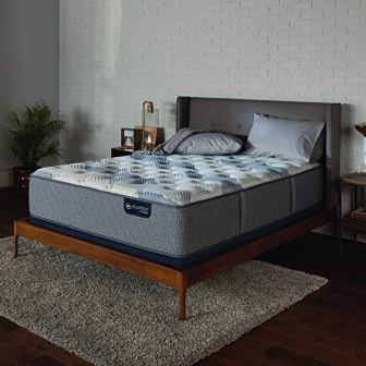 Serta Icomfort 500823191-1060 Icomfort Hybrid 10″ Blue Fusion 100 Firm Bed Mattress Conventional, King, Gray