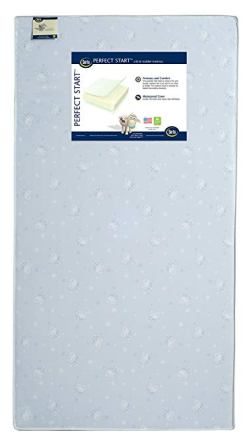 Serta Perfect Start Fiber Core Crib and Toddler Mattress | Waterproof | Lightweight