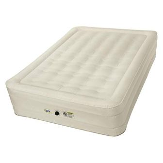 Serta Wenzel 14″ Queen Air Mattress with External Ac Pump & Neverflat Fabric Tech
