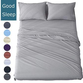 Shilucheng Queen Size Bed Sheet Set – Microfiber, 4 Piece