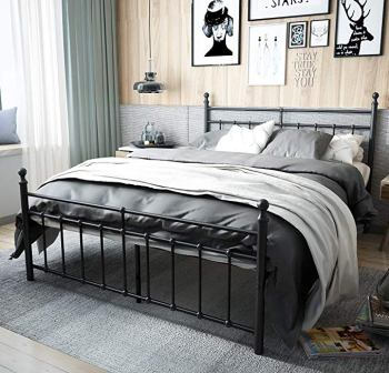 TEMMER Reinforced Metal Bed Frame