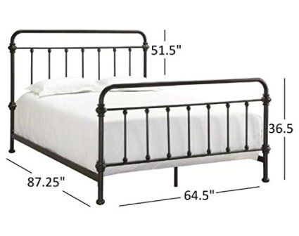 9ca2ecd552799 The rustic appearance Tribecca Home Giselle Antique Dark Bronze Graceful  Lines Victorian Iron Metal Bed