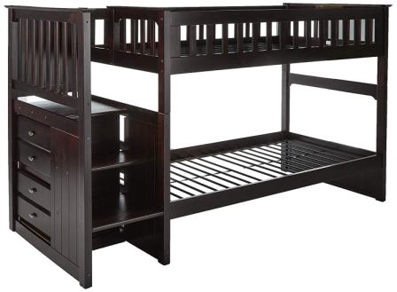 Twin Over Full Stair Stepper Bed from Discovery World Furniture