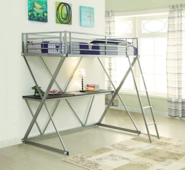 Twin-over-Full Workstation Loft Bed from Coaster Home