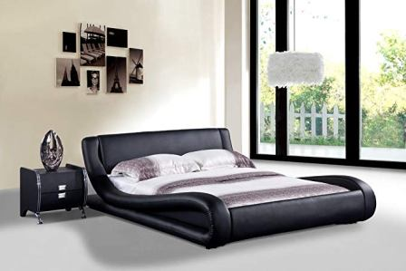 US Pride Furniture Dona Faux Leather Bed