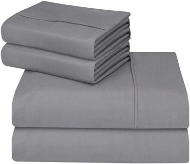 Utopia Bedding Soft, Brushed Microfiber 4-Piece Queen Bed Sheet Set