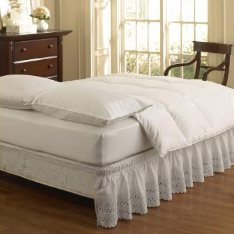 Wrap Around Eyelet Ruffled Bed Skirt – EasyFit
