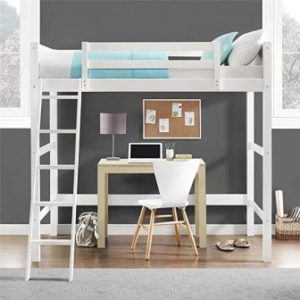 YOUR ZONE TWIN WOOD LOFT BED