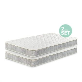 Zinus 6-inch Spring Twin Mattress – Pack of Two