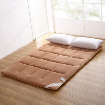 Brown Flannel Tatami Floor Mat Futon King Mattress Sleeping Pad from MAXYOYO