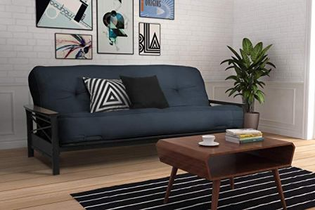 DHP 5424696 Independently Encased Coil Futon Mattress with Foam Sofa Bed