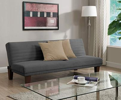 DHP Dillan Convertible Futon with Microfiber Upholstery