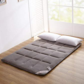 Grey Flannel Japanese Floor Futon King Mattress from ColorfulMart