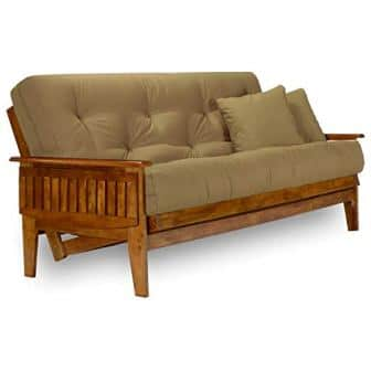 Nirvana Futons Eastridge Futon Frame – Queen Size, Solid Hardwood