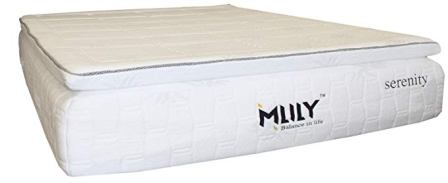 Serenity Gel Memory Foam Pillow Top Queen Mattress from MLily