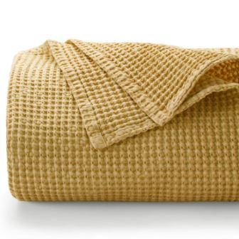Bedsure 100% Cotton Blanket – Stone-Washed Bed Blanket