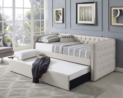 Best Master Furniture LT001 Laura Tufted Daybed + Trundle