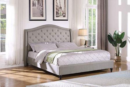Best Master Furniture YY131 Sophie Upholstered Platform Bed