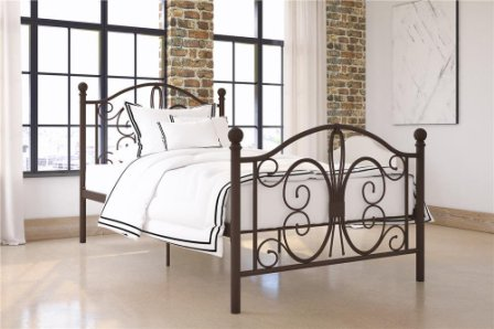DHP Bombay Metal Twin Bed Frame