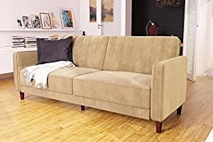 DHP Ivana Vintage Futon Sofa Bed