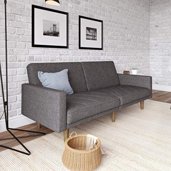 DHP Paxson Convertible Futon Couch Bed