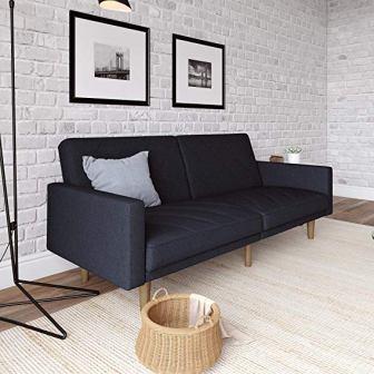 DHP Paxson Stylish Upholstered Futon