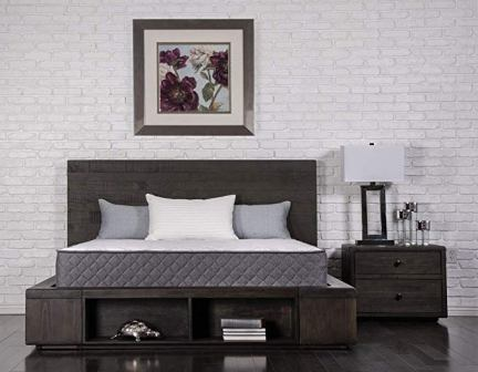 Dreamfoam Bedding Unwind 9.5″ Premium Contouring Comfort Foam and Innerspring Hybrid Mattress