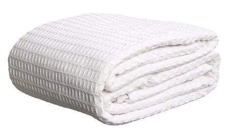 Elaine Karen Deluxe 100% Soft Cotton Thermal Waffle Weave Blanket