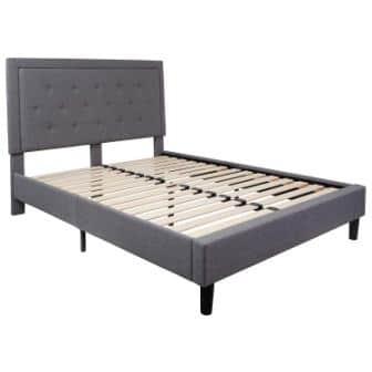Flash Furniture Brighton Tufted Upholstered Platform Bed