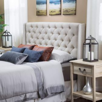 Great Deal Furniture Lidia Tufted Fabric Headboard