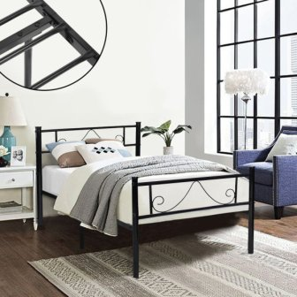 Green Forest Twin Bed Frame