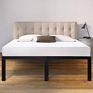 LEE PLACE High-Profile Heavy-Duty Steel Slat Bed Frame