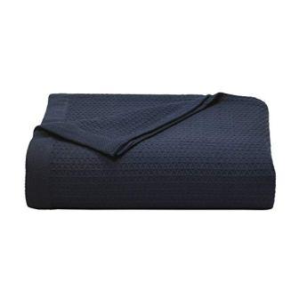 Nautica Baird Navy Cotton Blanket