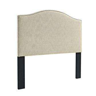 Pulaski Selma Camel Back Tweed Panel Headboard