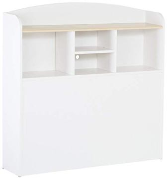 South Shore Summertime Bookcase Headboard with Storage